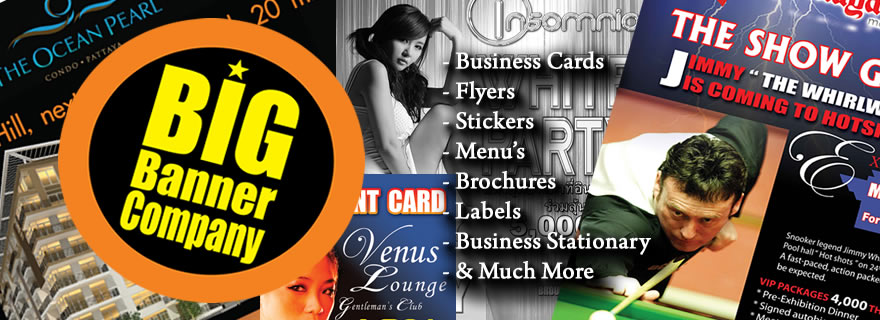Big banner company printing of business cards flyers menus big banner reheart Choice Image